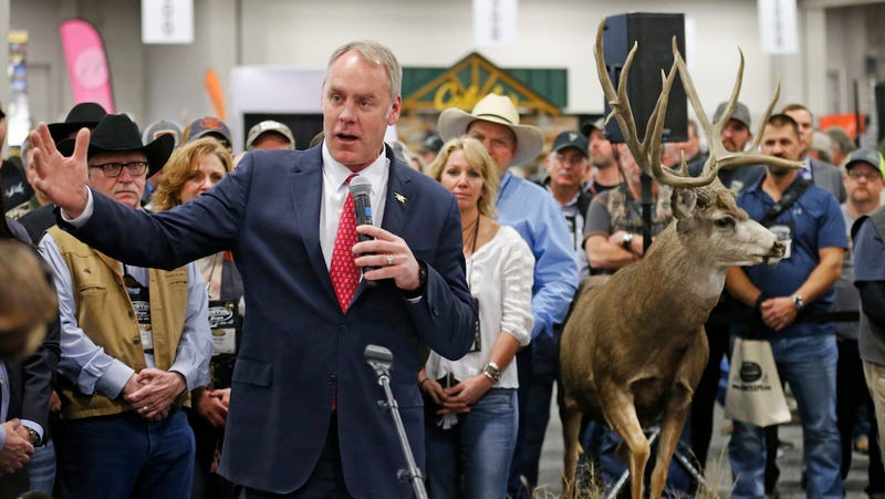U.S. Interior Secretary Ryan Zinke speaks at the Western Conservation and Hunting Expo  in Salt Lake City on Feb. 12, 2018 (Photo: AP)