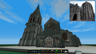 Illustration for article titled An Earthquake Doomed His Church, So He Rebuilt It In Minecraft