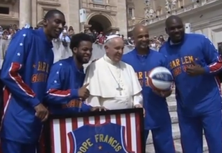 Pope Francis with the Harlem Globetrotters May 6, 2015Fox News Latino