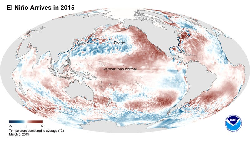Illustration for article titled El Niño Is Finally Here, But Not Quite How We Expected It
