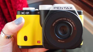 Illustration for article titled Pentax's K-01 Mirrorless Camera Puts Substance Over Style (Because It Has No Style)