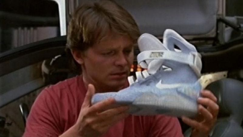 Illustration for article titled Nike finally making Back To The Future II's self-lacing shoes for real