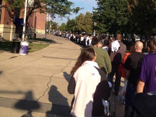 ac8ed93fb A Whole Lot Of Ravens Fans Turned Up To Exchange Their Ray Rice Jerseys