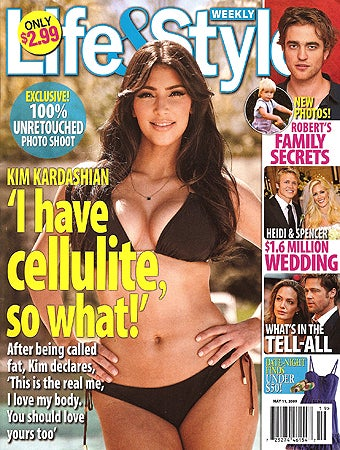 Illustration for article titled This Week In Tabloids: Kim Kardashian Without Photoshop; SJP's Expecting Twins