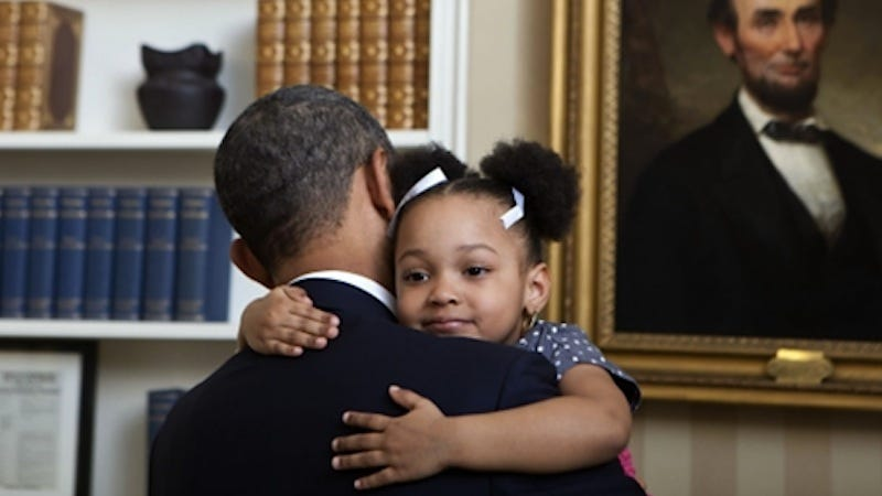 Illustration for article titled Saturday Night Social: Obama and Kids