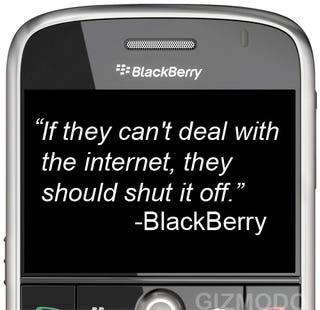 Illustration for article titled Don't Even Tempt Them, BlackBerry...