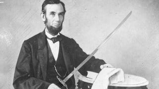 Illustration for article titled Abraham Lincoln once nearly dueled a rival with a broadsword