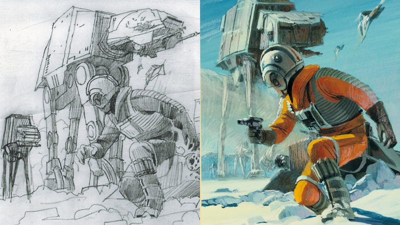 Illustration for article titled Ralph McQuarrie's Ultra-Rare Cover For The Empire Strikes BackNovelization Is Gorgeous
