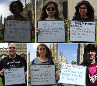 Illustration for article titled I need Feminism because: Photos taken at Cambridge Uni