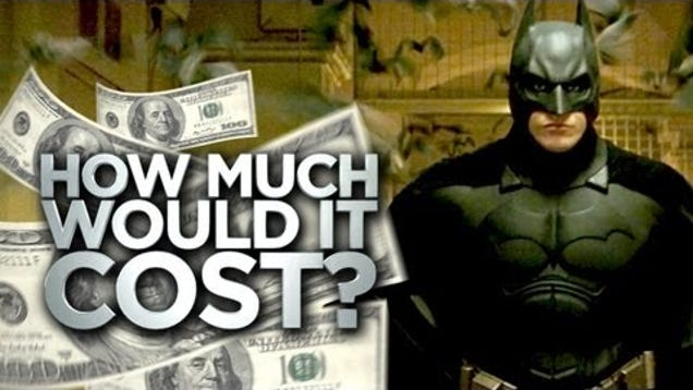 how much does it really cost to be batman. Black Bedroom Furniture Sets. Home Design Ideas
