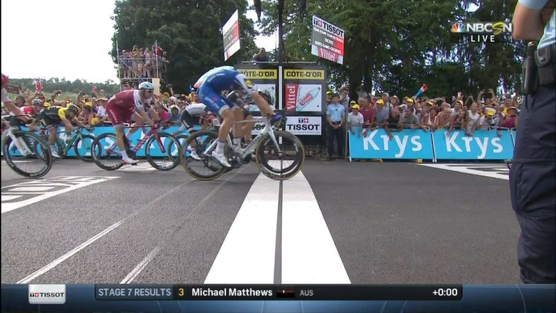 Kittel with third stage win after photo finish