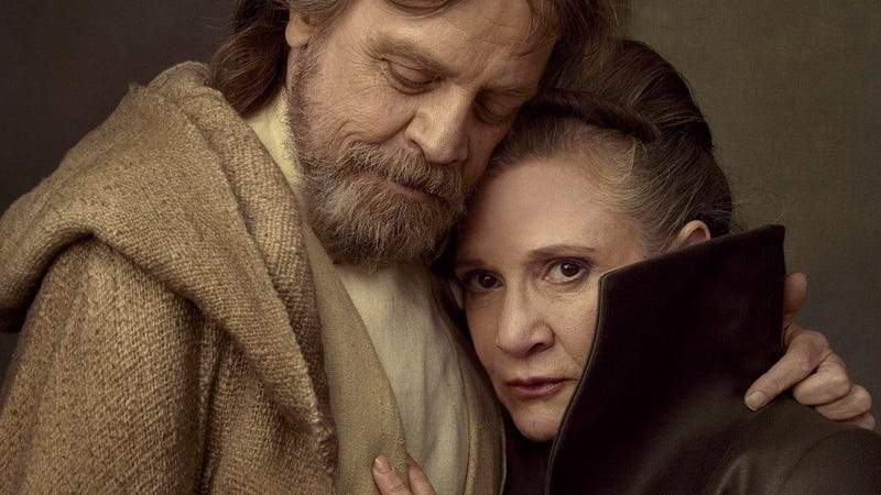 Illustration for article titled El detalle de Star Wars: The Last Jedi que hace que la historia de Luke y Leia termine como empezó