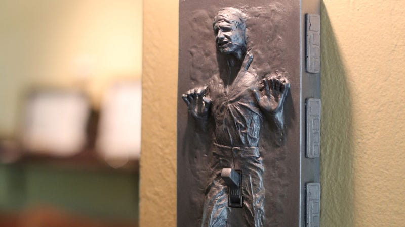 Illustration for article titled Han Solo, Frozen In Carbonite, Has Boner Light-Switch