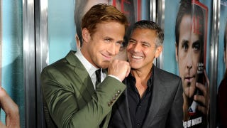 Illustration for article titled Ryan Gosling And George Clooney. In The Same Place. Wearing Sharp Suits.