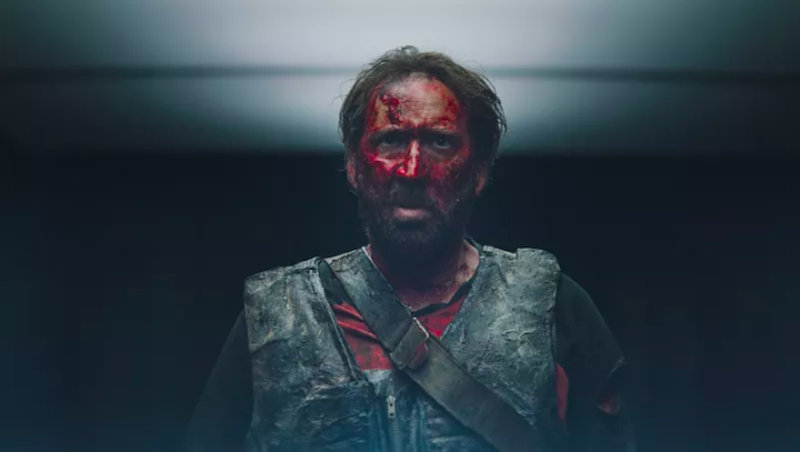 "Illustration for article titled Nicolas Cage on going full Nicolas Cage in Mandy: ""It is something I surf with"""
