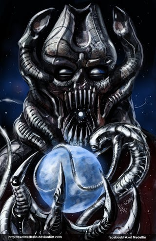 Illustration for article titled What If H.R. Giger Had Designed Galactus?