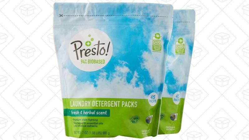 90 Cápsulas de detergente Presto! | $14 | Amazon