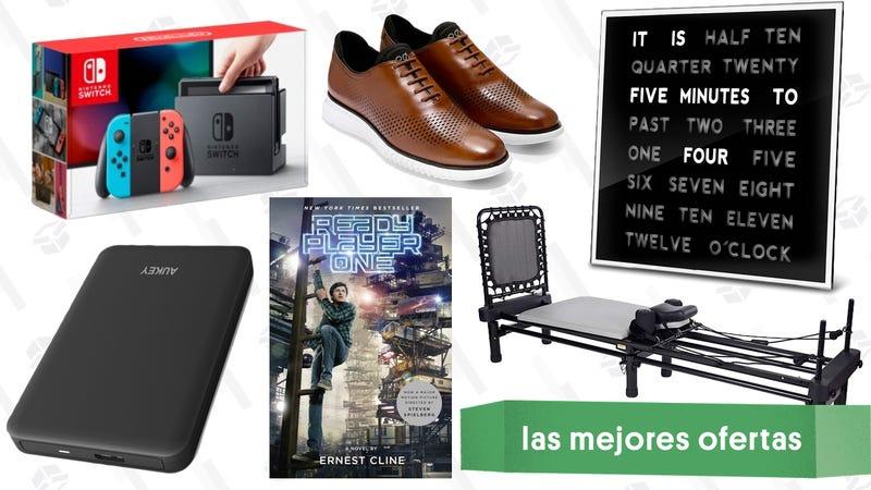 Illustration for article titled Las mejores ofertas de este jueves: Pack de Nintendo Switch, un reloj original, máquina de pilates y más