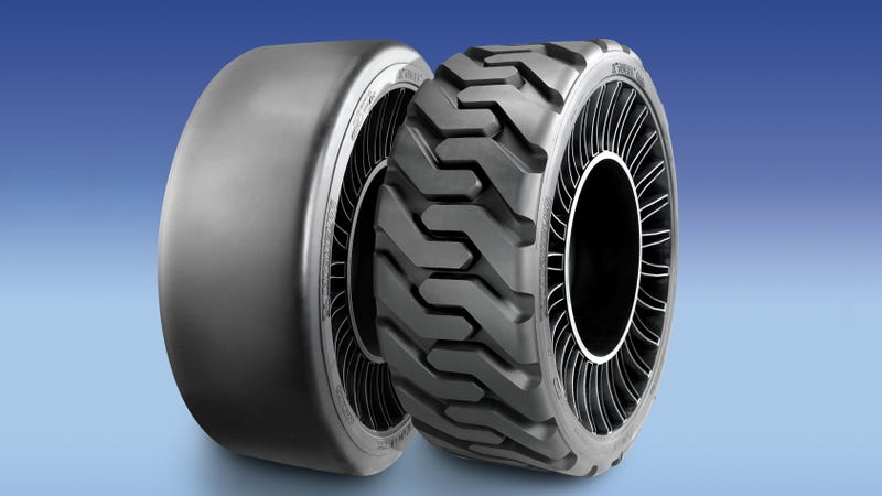 Illustration for article titled Michelin's Airless Tire Might Actually Start Existing