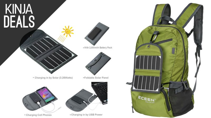 Illustration for article titled This $50 Hiking Backpack Comes with a Built-In Solar Charger