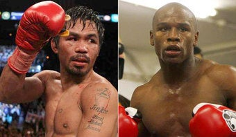 Illustration for article titled Pacquiao, Mayweather Reduced To Peeing In Cups