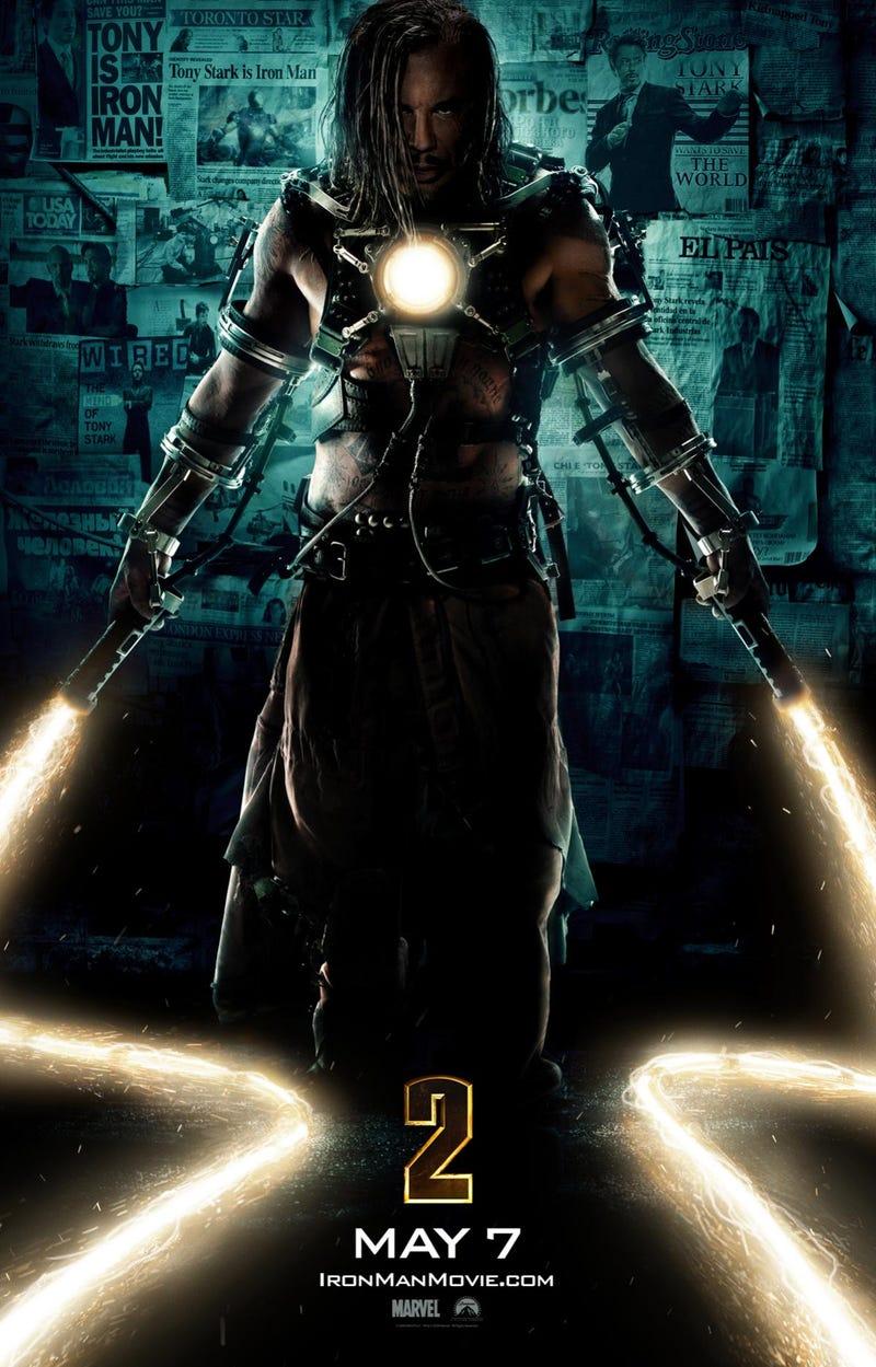 Illustration for article titled New Iron Man 2 Poster Reveals Villain Whiplash
