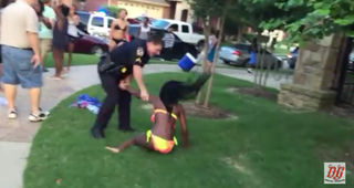 McKinney, Texas, Police Cpl. Eric Casebolt throws a 15-year-old girl down on the ground during an incident at a pool party June 5, 2015.YouTube screenshot