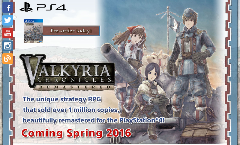 Illustration for article titled Valkyria Chronicles Remastered Coming West in Spring 2016