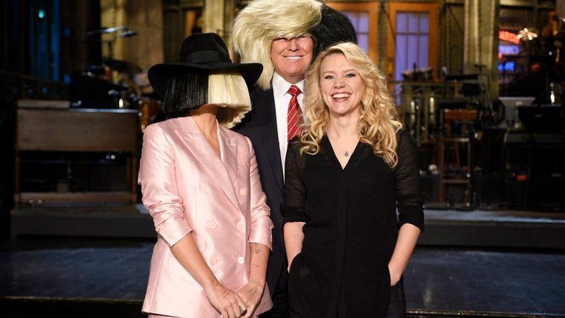 Sia, Donald Trump, Kate McKinnon (NBC)