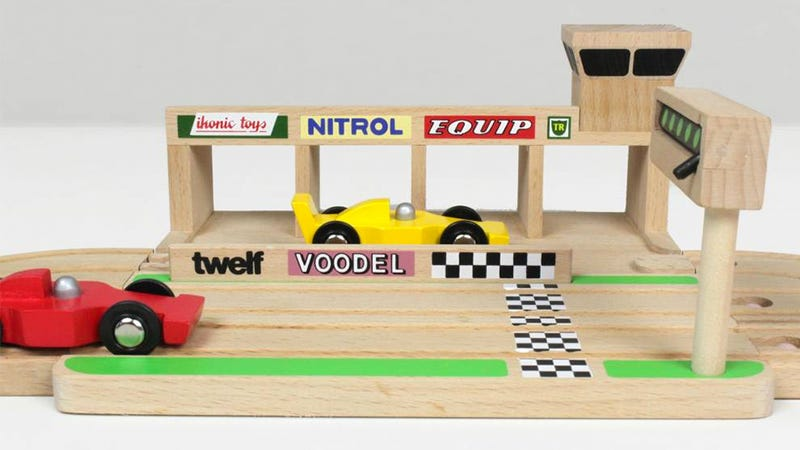 Illustration for article titled Upgrade Your Kid's Wooden Train Set To a Formula 1 Circuit