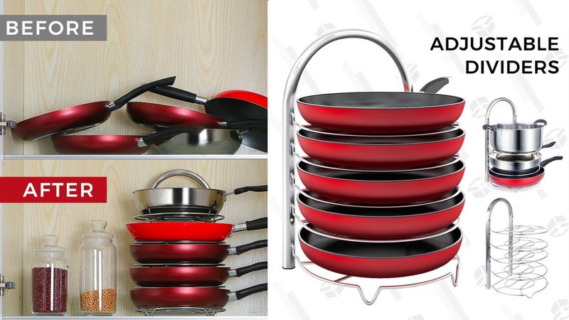 make 2019 the year you organize your pans with this 17 rack