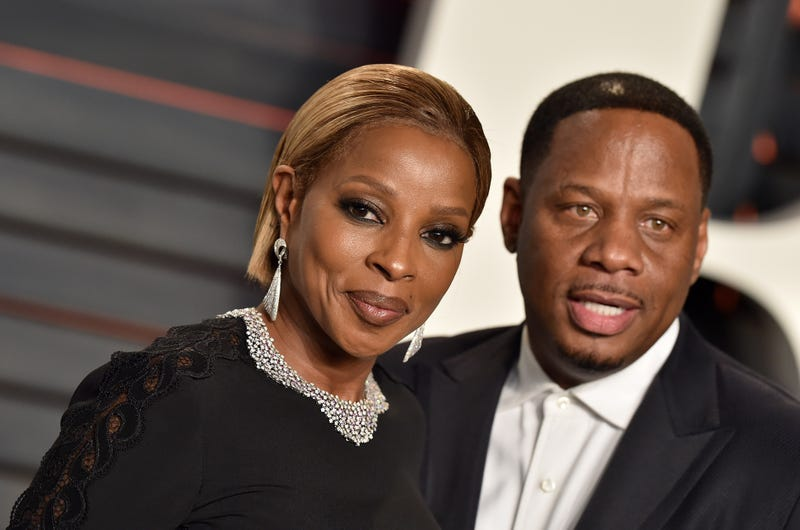 """Singer-songwriter Mary J. Blige and Martin """"Kendu"""" Isaacs in February 2016Axelle/Bauer-Griffin/FilmMagic"""