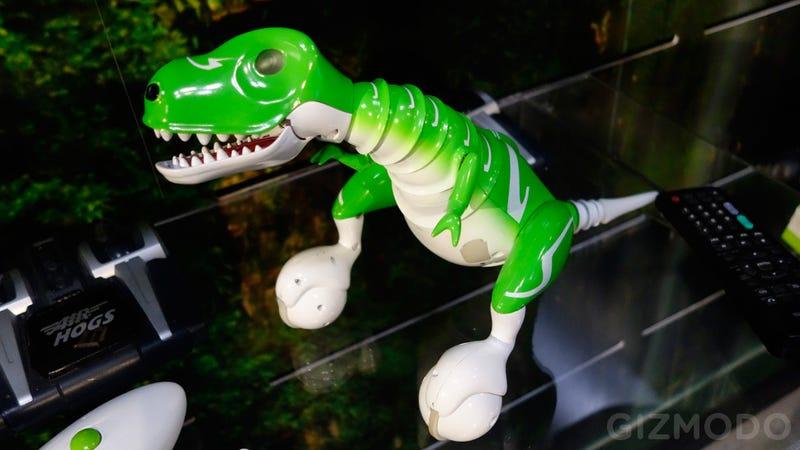 This RC Dino Balances On Two Rolling Feet Like a Prehistoric