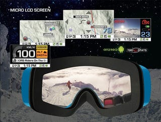 Illustration for article titled These Android-Powered Recon Alpine Goggles Make Snowboarding Like a Real Life Video Game