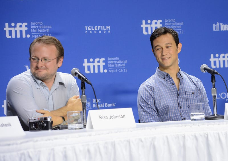 Joseph Gordon-Levitt (right) with Star Wars: The Last Jedi director Rian Johnson. (Photo: Jason Merritt/ Getty Images)
