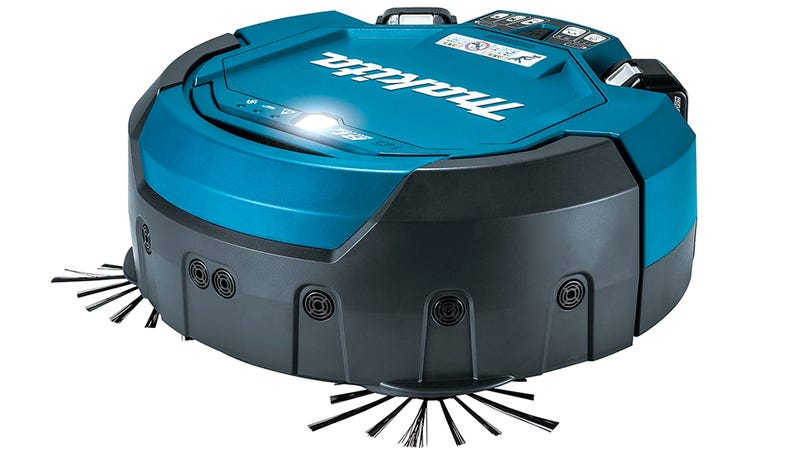Illustration for article titled Makita's Robo-Vac Uses Power Tool Batteries to Clean Workshop Floors For Hours
