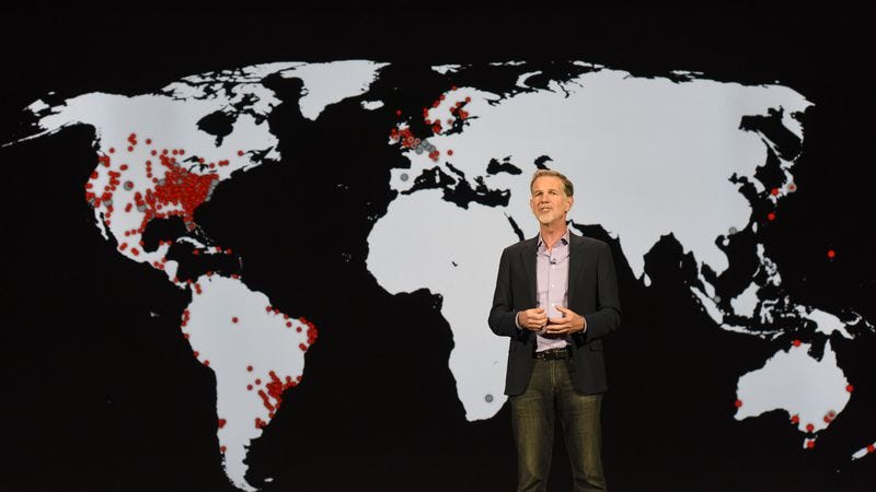 Netflix CEO Reed Hastings shares the company's plans for world domination (Photo: Getty Images)