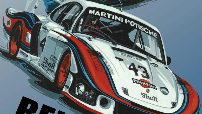 Illustration for article titled Rennsport IV historic Porsche poster is retro awesome