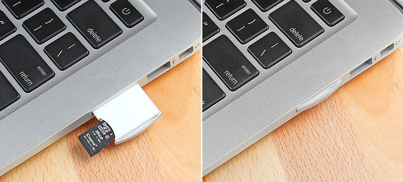 Illustration for article titled Turn Your Unused MicroSD Cards Into Invisible Extra MacBook Storage