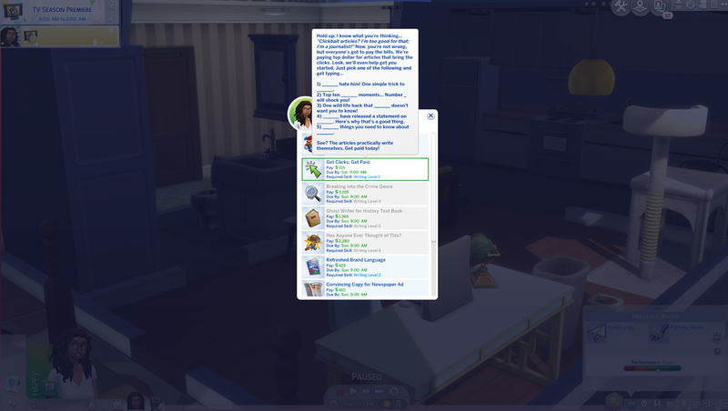 The Sims Freelancer Career Sucks And Also Owns, Just Like