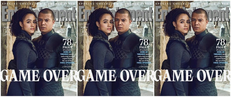 (l-r) Nathalie Emmanuel and Jacob Anderson as Missandei and Grey Worm.