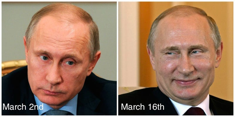 Illustration for article titled Did Vladimir Putin 'Go Missing' So He Could Have Plastic Surgery?