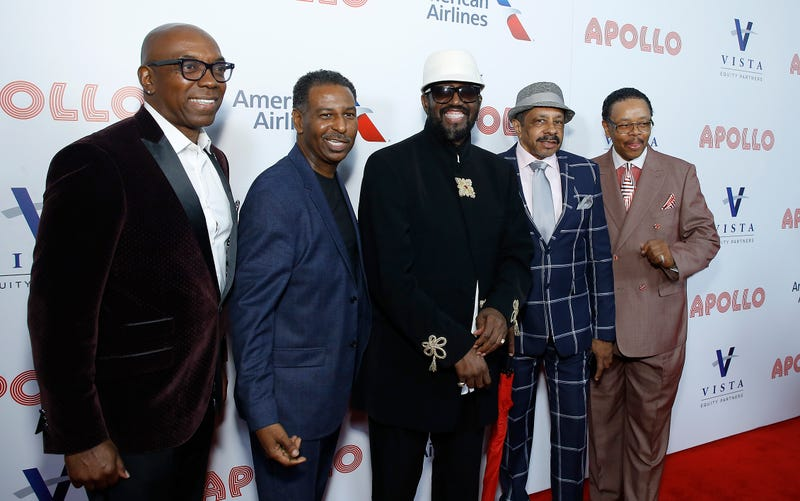 Larry Braggs, Terry Weeks, Otis Williams, Ron Tyson, and Willie Green attend 14th Annual Apollo Theater Spring Gala at The Apollo Theater on June 10, 2019, in New York City.