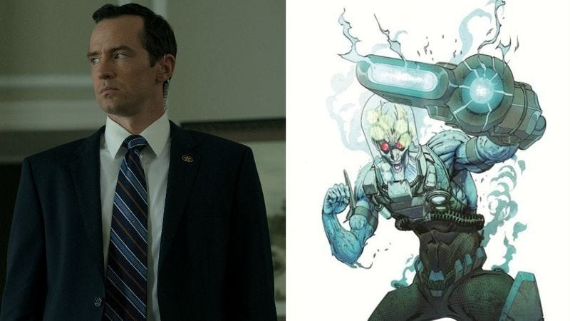 (Photo: Nathan Darrow in House Of Cards; Image: DC Comics)