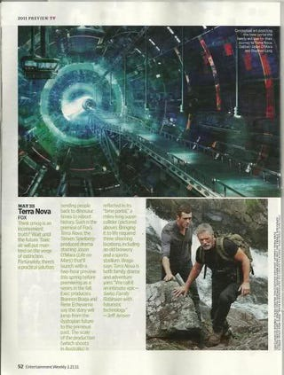 Illustration for article titled Terra Nova Entertainment Weekly Scan