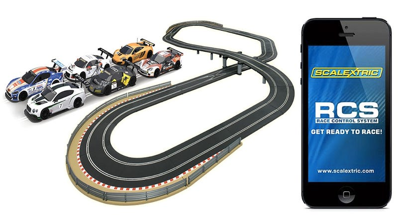 app connected slot cars give you mario kart like power ups and damage. Black Bedroom Furniture Sets. Home Design Ideas
