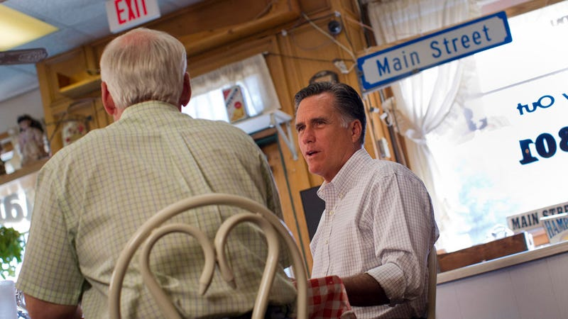 Illustration for article titled Mitt Romney Trashes a Woman's Cafe, Then Pisses Her Off Further With His Half-Assed Apology