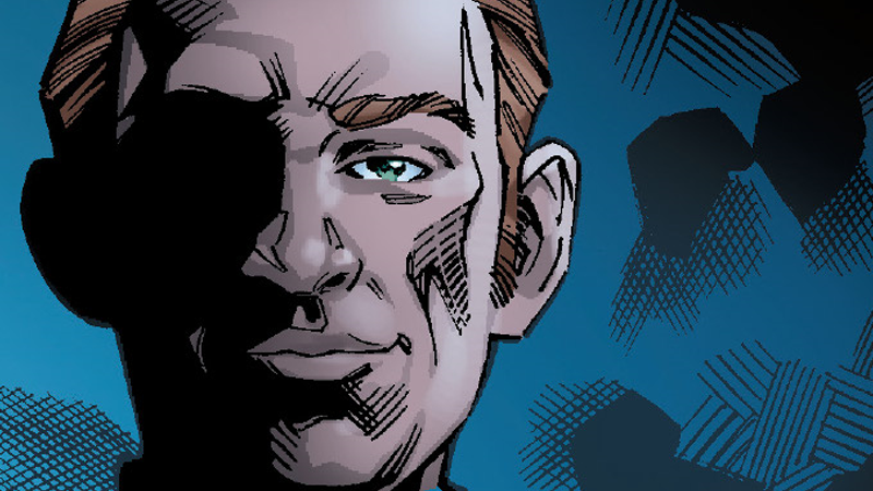 General Hux, cast in shadow.