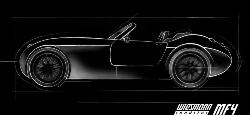 Illustration for article titled Wiesmann Roadster MF4 Teased Ahead Of Geneva