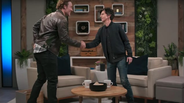 Tig Notaro interviews James Van Der Beek despite having no clue who he is